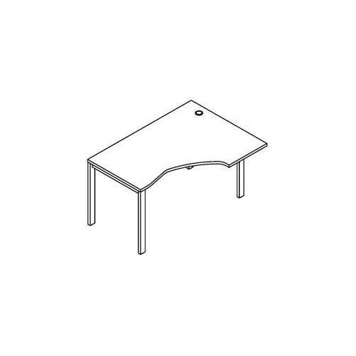 Biurko kątowe bsa25 wymiary: 137x100(70)x75,8 cm marki Svenbox