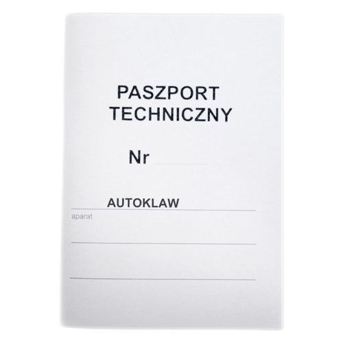 Paszport techniczny do autoklawu marki Activeshop