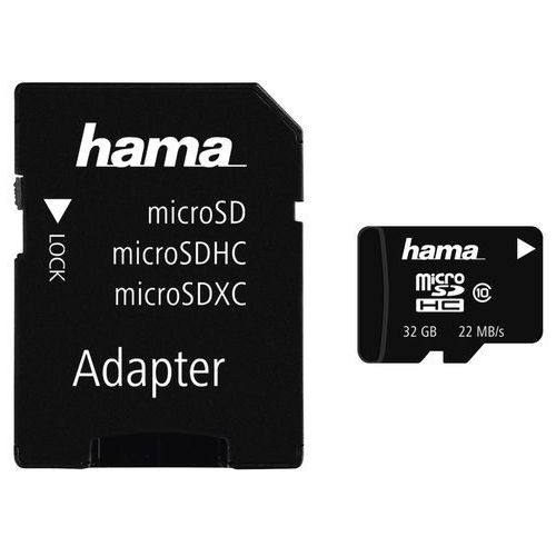 Karta HAMA microSDHC/32GB Class 10 22 MB/s (4047443131522)