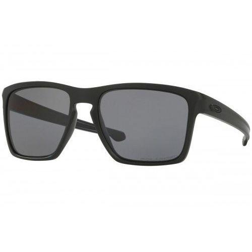 Okulary sliver xl matte black grey polarized oo9341-01 marki Oakley