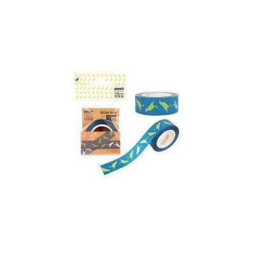 Taśma dekoracyjna 16mm x 10mm, niebieska marki Stickn