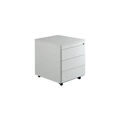 Kontener szufladowy na rolkach,wys. x głęb. 579 x 600 mm, płyta z tworzywa, 3 szuflady