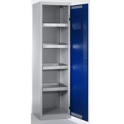 Stumpf-metall Szafa ekologiczna, drzwi perforowane, wys. x szer. x głęb. 1800x500x500 mm, 4 pó