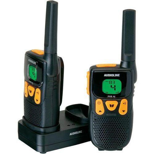 Krótkofalówka Audioline WalkieTalkie Power PMR 46 Czarno-Pomarańczowy (901035) Darmowy odbiór w 21 miastach! (4250711901035)