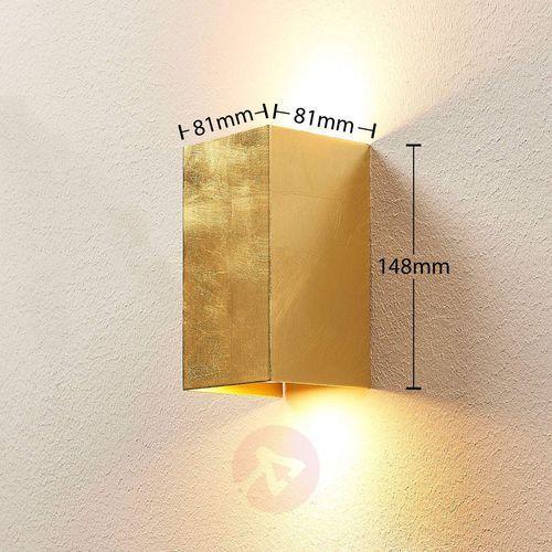 Lampenwelt.com Złota lampa ścienna tabita z metalu, 2-pkt.