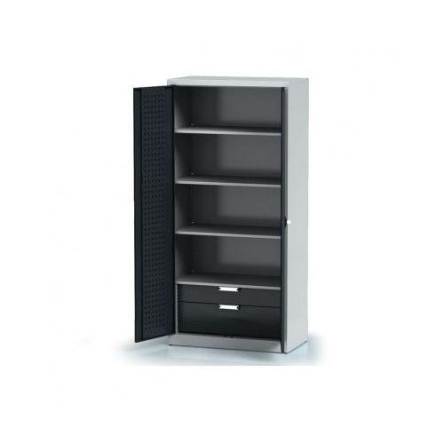 Alfa 3 Szafa warsztatowa - 4 półki, 2 szuflady