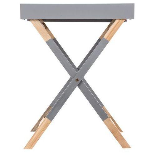 Stolik składany, kwadratowy HEDRA - drewno sosny i MDF, 45 x 45 x 60 cm