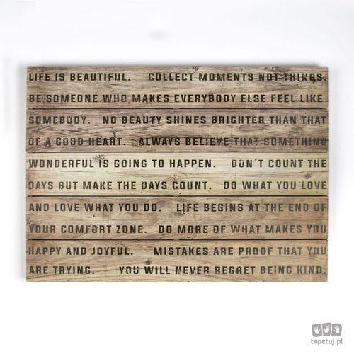 Obraz na drewnie life is beautiful 102503 marki Graham&brown