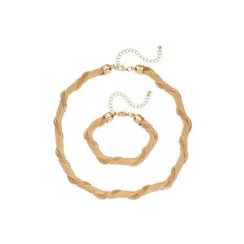 Łańcuszek + bransoletka (2 części) bonprix złoty kolor