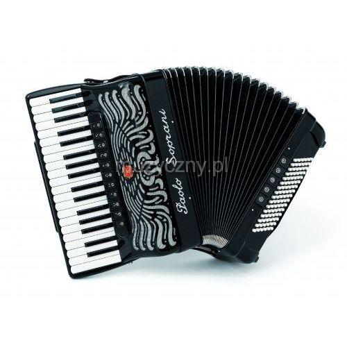 Paolo Soprani Super Paolo 37/96 Cassotto (2+2) 37/4/11+M 96/5/5 Piccolo akordeon (czarny)