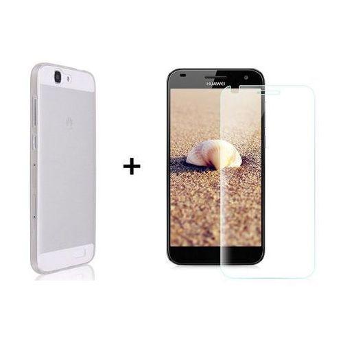 Zestaw Obudowa Ultra Slim Przezroczysta + Szkło ochronne Perfect Glass Huawei Ascend G7