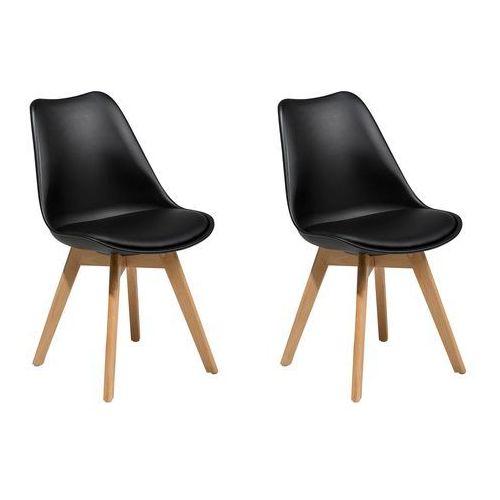 Zestaw do jadalni 2 krzesła czarne DAKOTA II, kolor czarny