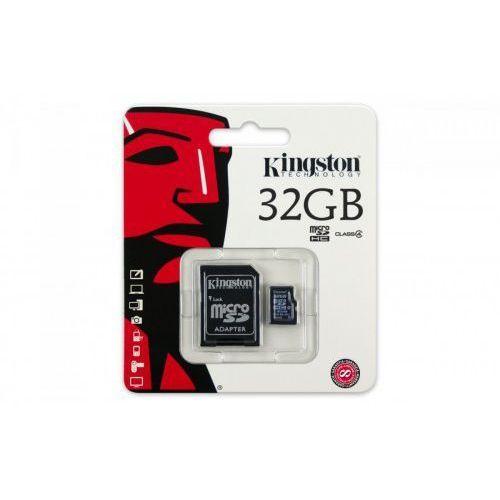 SDC4/ 32GB microSDHC w SD adp Class 4, SDC4/ 32GB