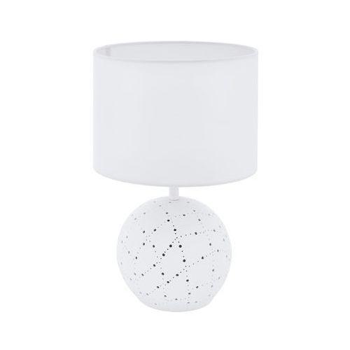 Eglo Montalbano 98381 lampka lampa stołowa biurkowa 1x60W E27 biała