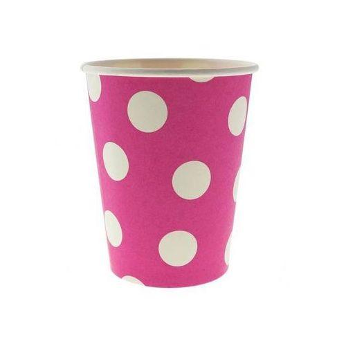 Go Kubeczki papierowe grochy różowe - 270 ml - 6 szt. (5901238678052)