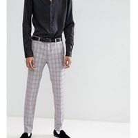 Heart & dagger skinny suit trousers in check - pink