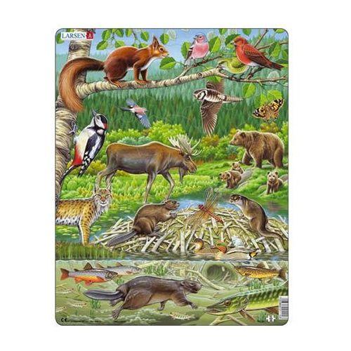 Puzzle MAXI - Zvířátka v lese/45 dílků neuveden