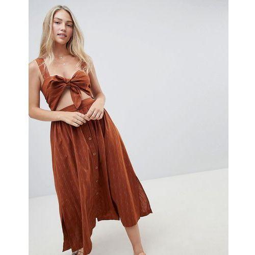 Free People Caldasi midi dress - Brown