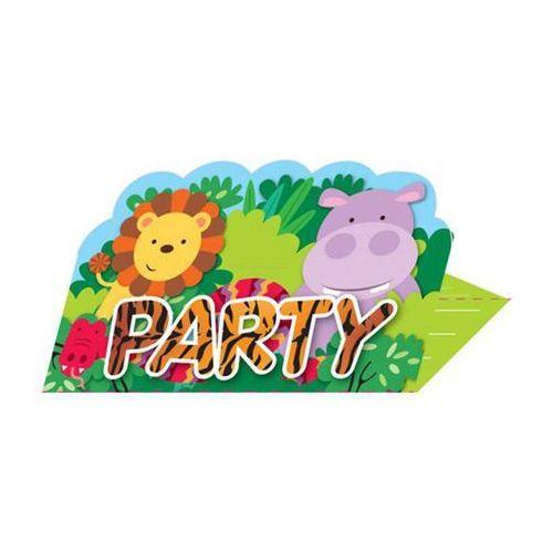 Zaproszenia urodzinowe Party w Dżungli - 8 szt. (0013051735753)