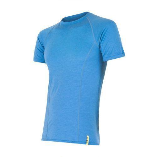 Bielizna termoaktywna merino wool active men's t-shirt short sleeves niebieski l marki Sensor