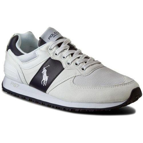 Sneakersy POLO RALPH LAUREN - Salton Pony A85 Y2136 ROKDW W140A White/Newport Navy 809580124006, kolor biały