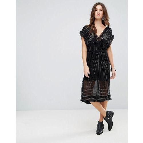 daisy embellished midi dress - black, Free people, 34-38