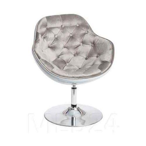 Fotel Pezzo Velvet K-biały, S-szare 1408, 104740