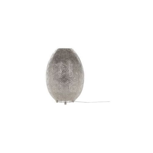 Lampa stołowa metalowa srebrna MARINGA (4260624111124)