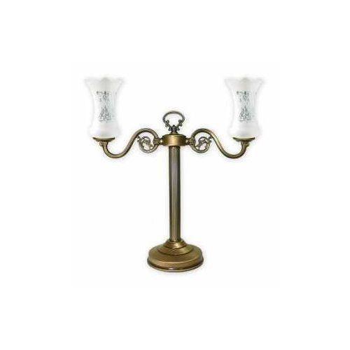 Retro Plus lampka stołowa 2 pł. / patyna, Dodaj produkt do koszyka i uzyskaj rabat -10% taniej!, 428/L2