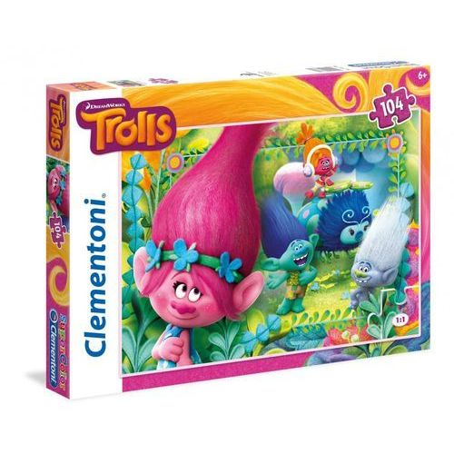 Clementoni 104 elementy trolls