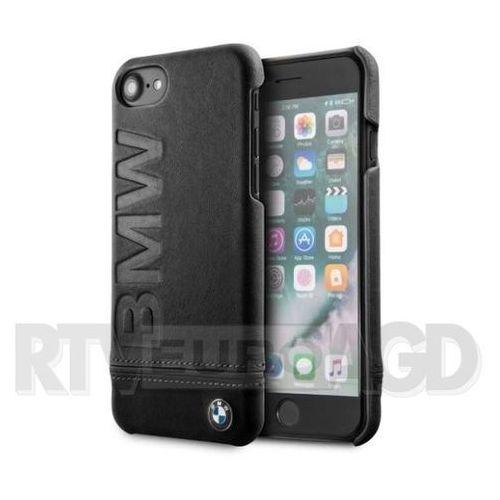 BMW Signature Logo Imprint Case - Skórzane etui iPhone 8 / 7 z wytłaczanym logo BMW (czarny) (3700740414811)