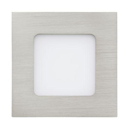 Plafon lampa sufitowa oprawa downlight oczko Eglo Fueva 1 1x2,7W LED nikiel mat / biały kwadr.94519, 94519