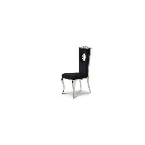 Krzesło glamour Luxury Black - nowoczesne krzesło tapicerowane, Luxury/KRZP/black