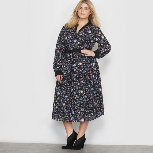 Długa sukienka z nadrukiem w kwiaty marki Castaluna