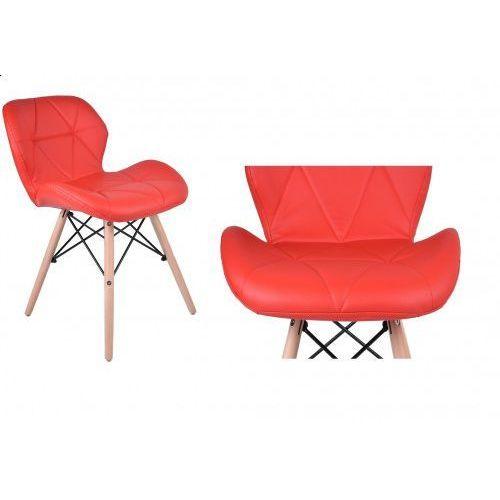 Krzesło tapicerowane MURET - czerwony, GK-0756