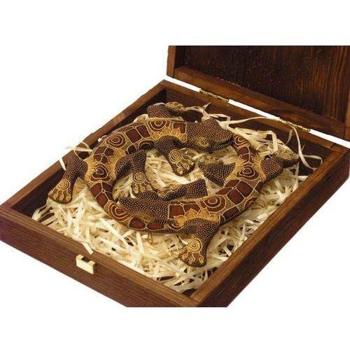 EMOCJONALNY PREZENT RZEŹBA Jaszczurka MIŁOŚCI brązowa