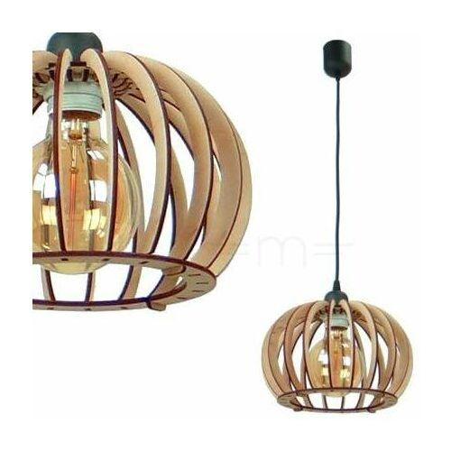 Team Lampa wisząca 137623612724 drewniana oprawa ekologiczna klatka zwis kula ball