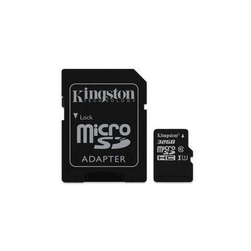 Kingston Karta pamięci canvas select microsdhc 32gb uhs-i u1 (80r/10w) + adapter (sdcs/32gb)