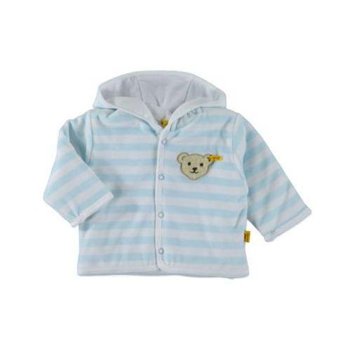 Steiff girls baby nicki bluza z kapturem w paski kolor niebieski (4048043085147)