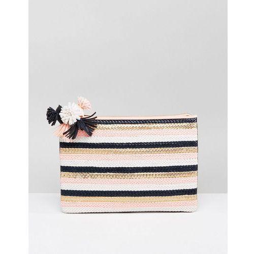 Miss KG Hunt Pom Detail Clutch Bag - Multi