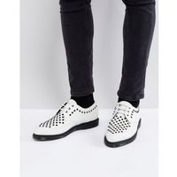 Dr martens rousden studded creepers in white - white