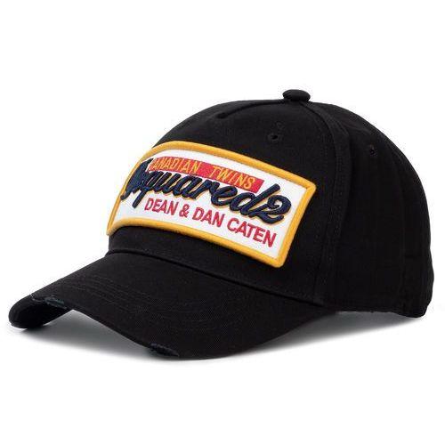 Czapka z daszkiem - patch cargo baseball caps bcm0249 05c00001 2124 nero marki Dsquared2