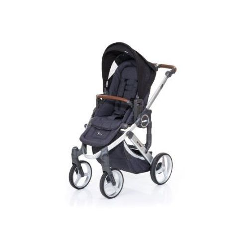Abc design wózek dziecięcy mamba plus street-black, stelaż silver / siedzisko street (4045875038167)