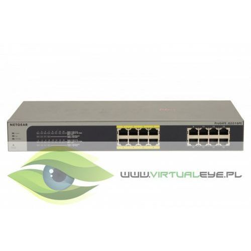 switch unmanaged plus rack 16xge (8xpoe) - jgs516pe marki Netgear