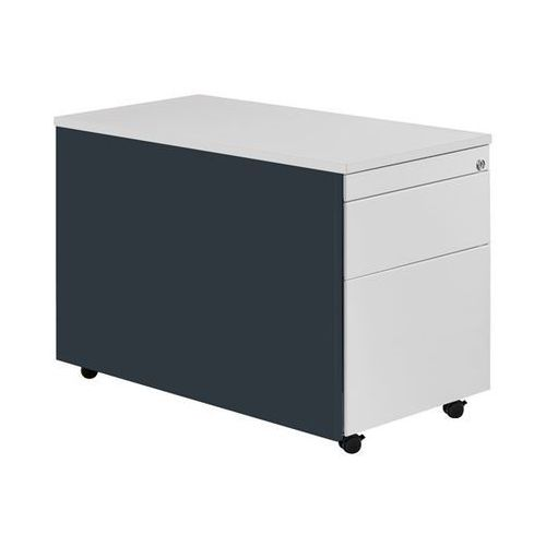 Kontener szufladowy na rolkach, wys. x głęb. 579x800 mm, blat z tworzywa, 1 szuf