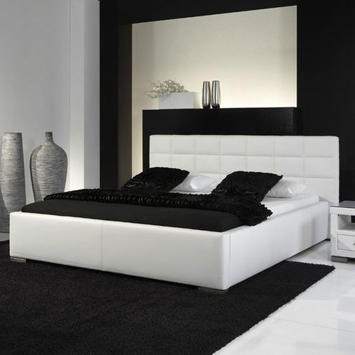 Łóżko tapicerowane 140 cm veronica ze stelażem i pojemnikiem na pościel marki Fato luxmeble