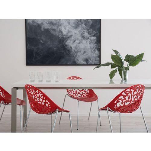 Krzesło do jadalni czerwone MUMFORD