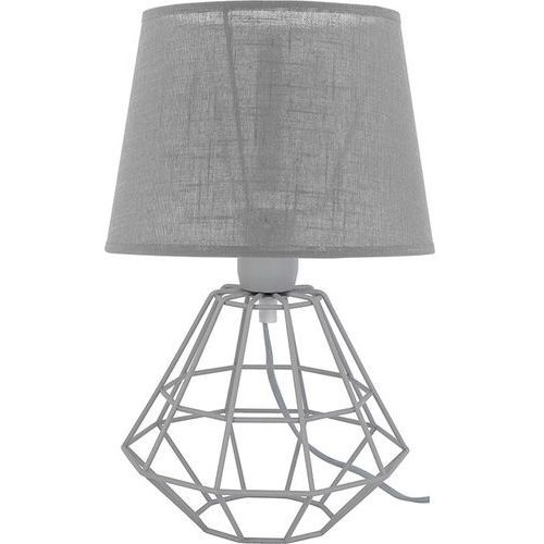 Tklighting Lampa lampka oprawa stołowa druciana nocna diament tk lighting diamond 1x60w e27 szary 2983