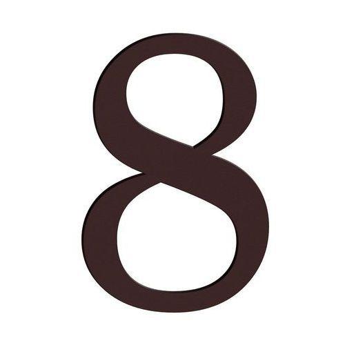 Cyfra 8 wys. 18 cm PVC brązowa (5906711250152)