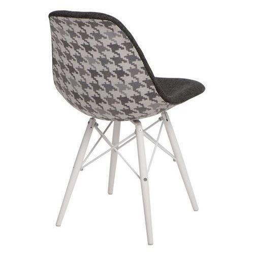 Krzesło p016w pattern szary/pepitka marki D2